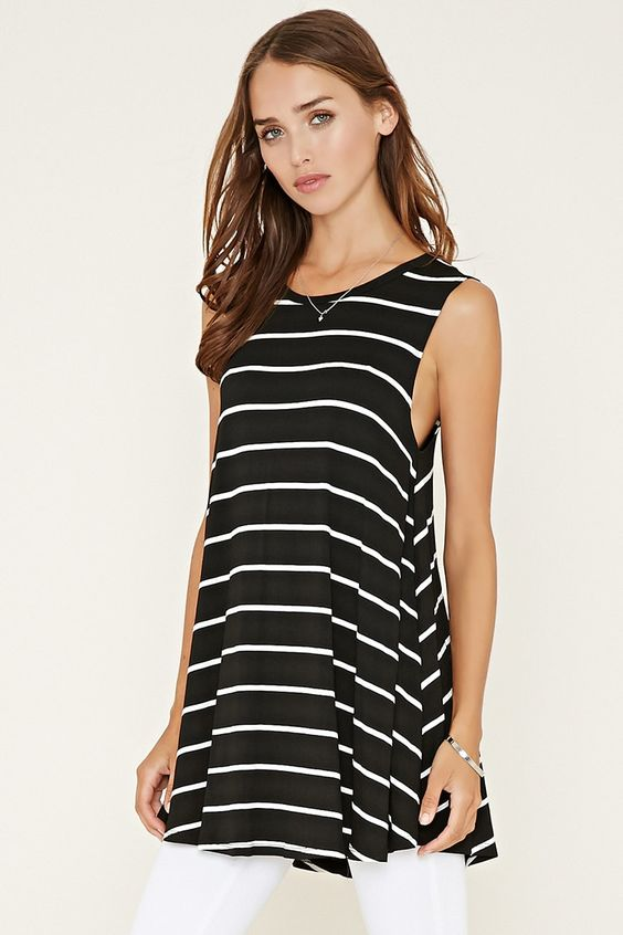 Striped Longline Top