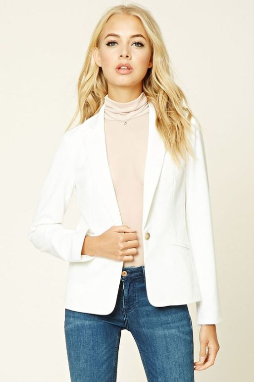 single-buttoned-blazer