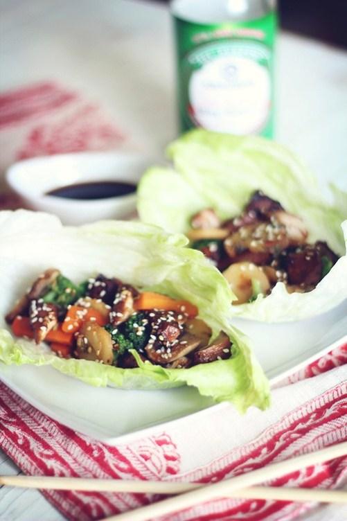 teriyaki-chicken-lettuce-wraps