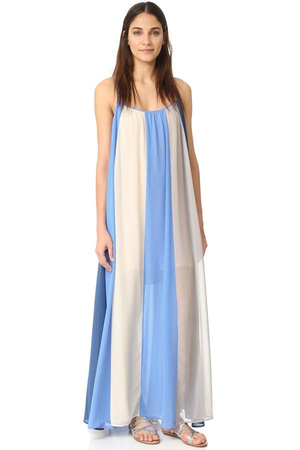 Line + Dot El Ray Color Block Maxi Dress