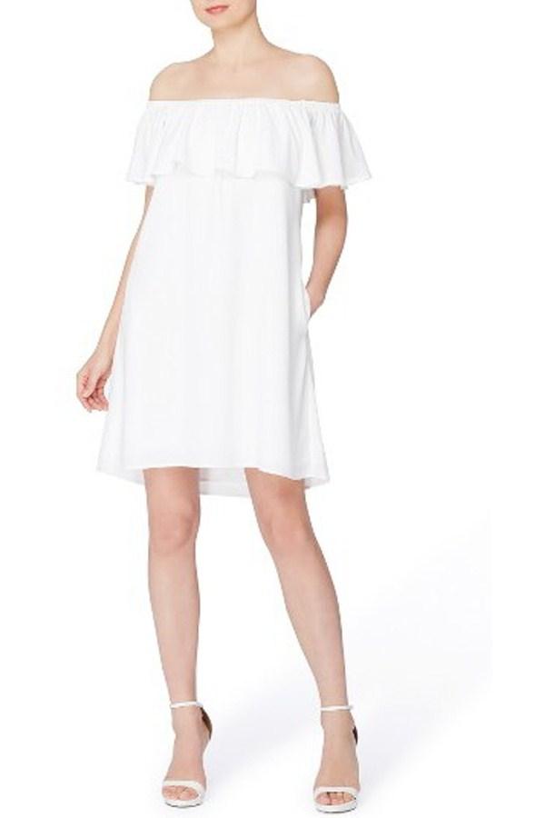 CATHERINE CATHERINE MALANDRINO OFF THE SHOULDER SHIFT DRESS