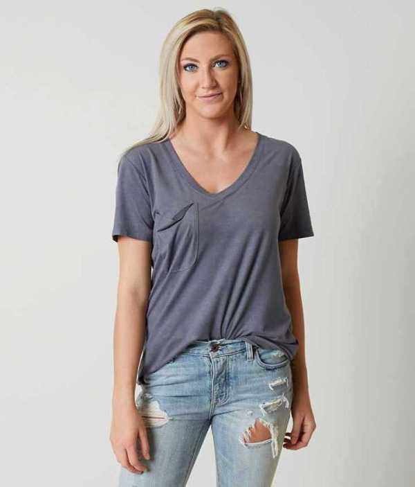 WHITE-CROW-FAUX-SUEDE-POCKET-T-SHIRT