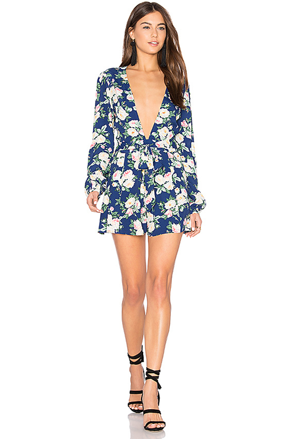Privacy Please x REVOLVE Concord Romper in Navy