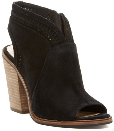 Vince Camuto Koral Perforated Open Toe Bootie