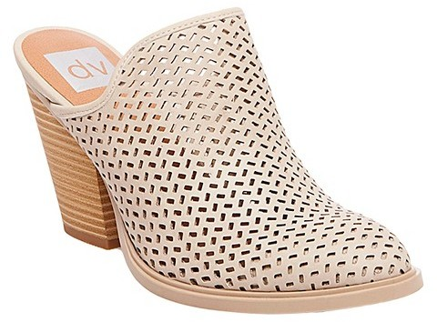 dv Kenli Perforated Mule Booties