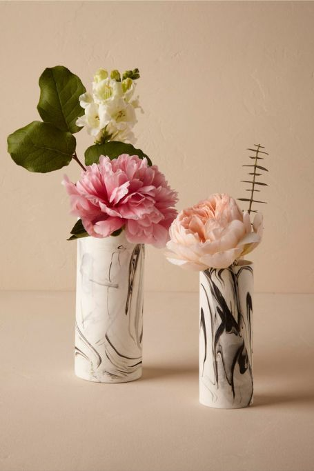 BHLDN Marbled China Vases