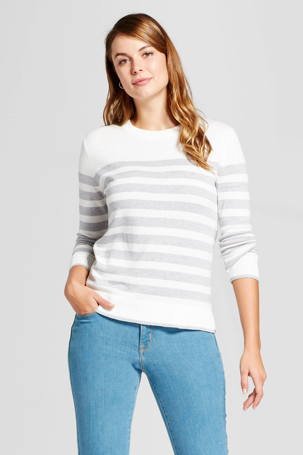 A New Day Striped Any Day Pullover