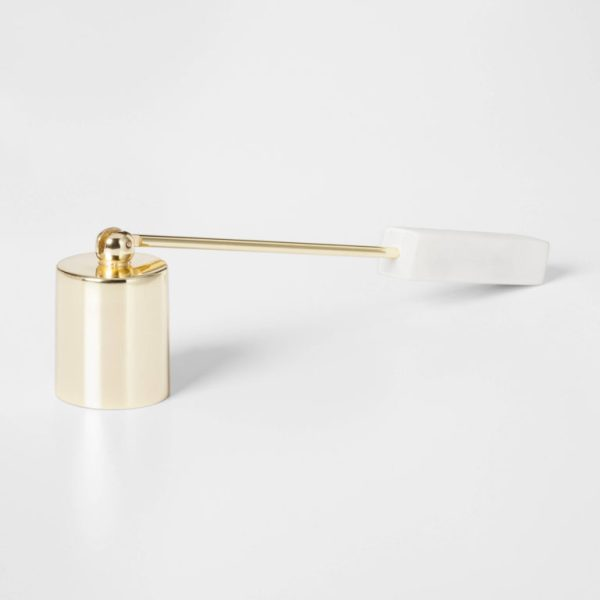 Candle Snuffer with Marble Handle - Gold - Project 62™