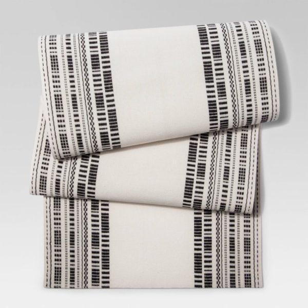 Cream Black Weave Table Runner - Project 62™