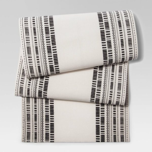 Cream Black Weave Table Runner - Project 62™