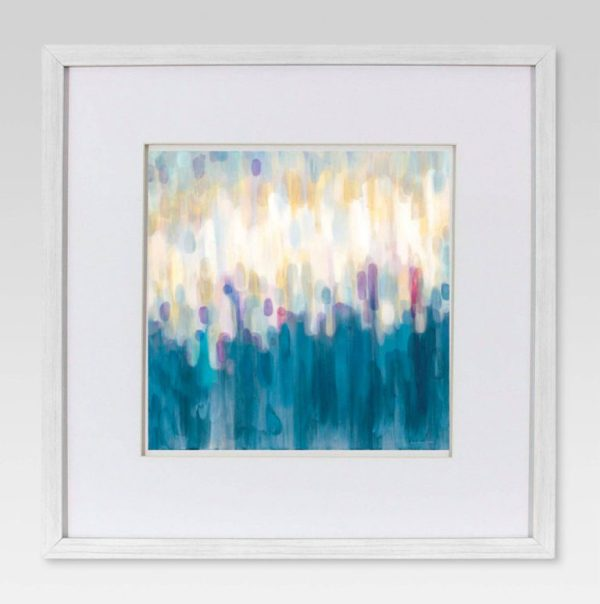 Framed Abstract Brushstroke Wall Art 18x18 - Project 62™