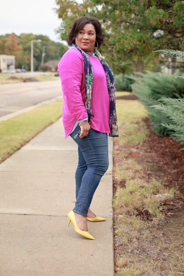 Pink-Sweater-Denim