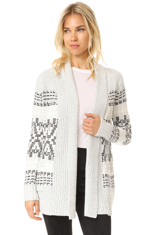 cupcakes and cashmere Raleigh Jacquard Cardigan