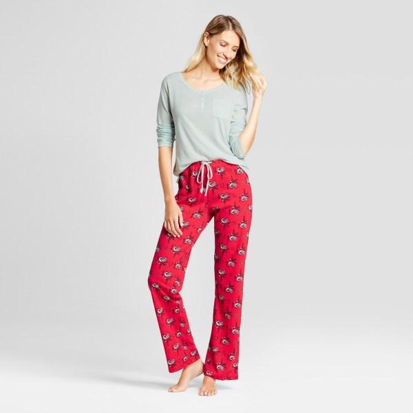 Women's 2pc Pajama Set - Gilligan & O'Malley™ Misty Waterfall