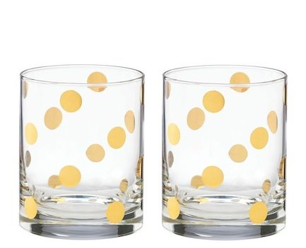 kate spade pearl place double old-fashioned glasses set
