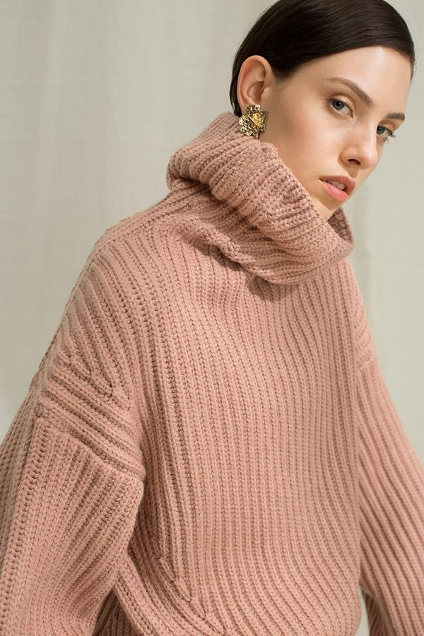 Genuine People Oversized Turtleneck Sweater