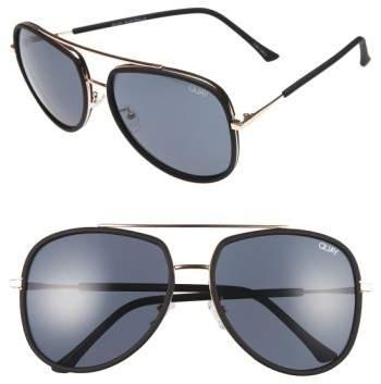Quay Australia 'Needing Fame' 65mm Aviator Sunglasses