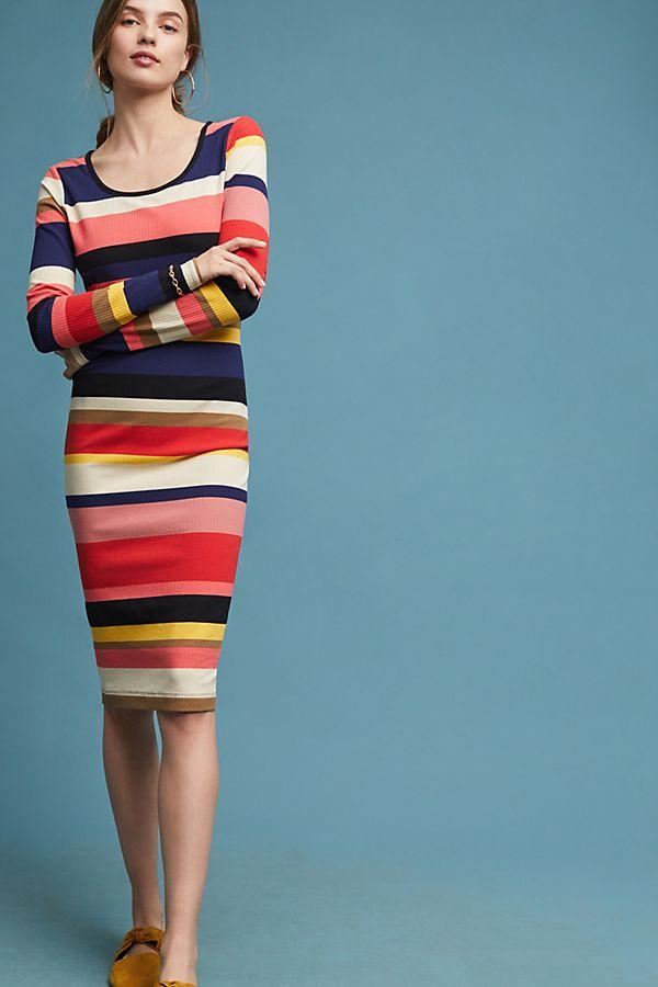 Plenty By Tracy Reese Vivid Stripe Column Dress