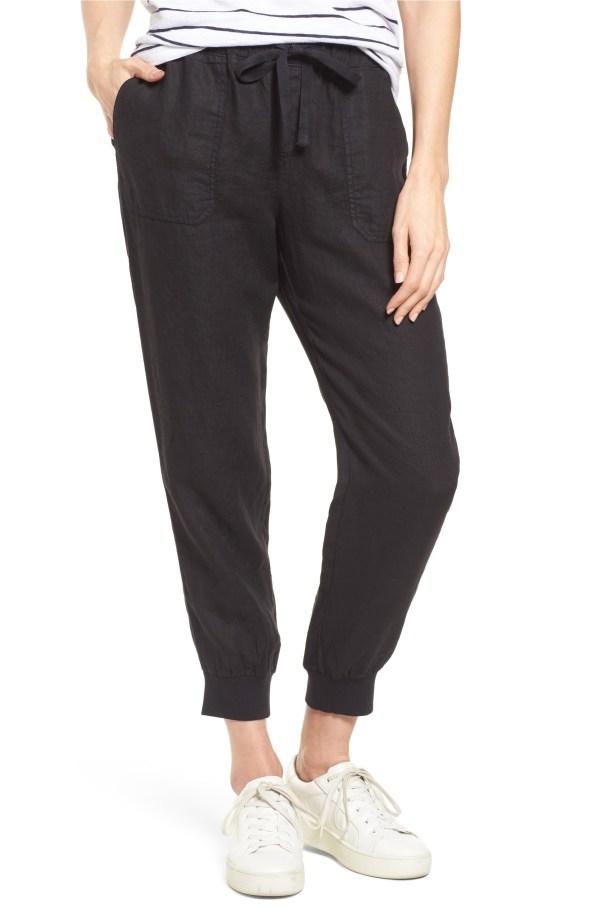 CASLON® Linen Jogger Pants