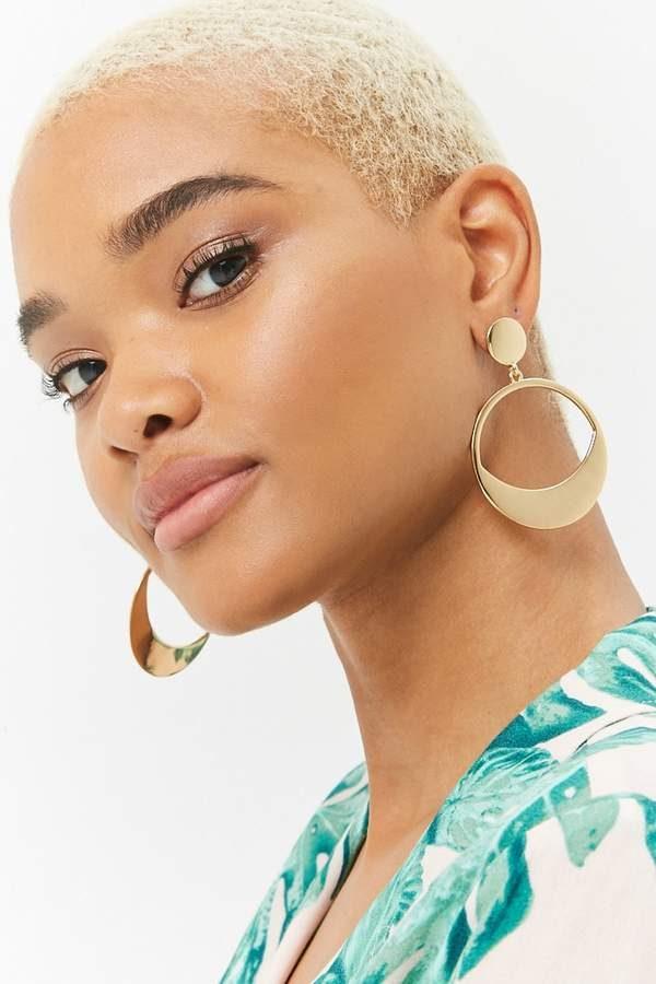 Forever 21 Drop Hoop Earrings