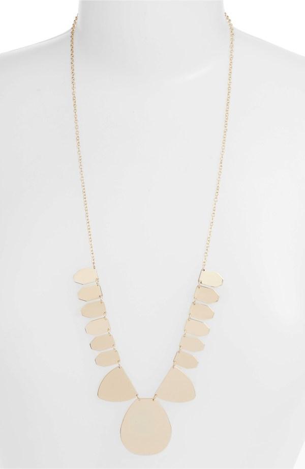 Tasha Metal Disc Necklace