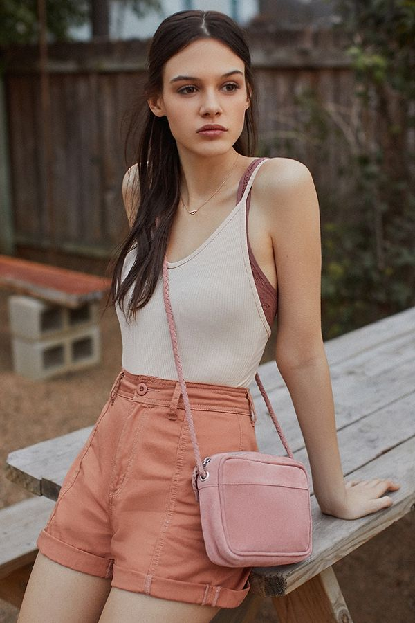 June Suede Crossbody Bag
