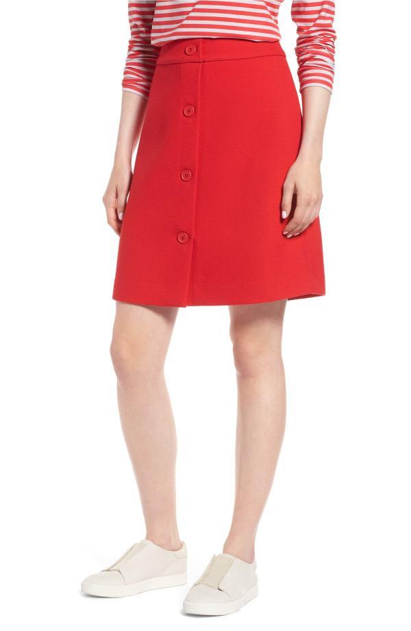 1901 Button Front Skirt