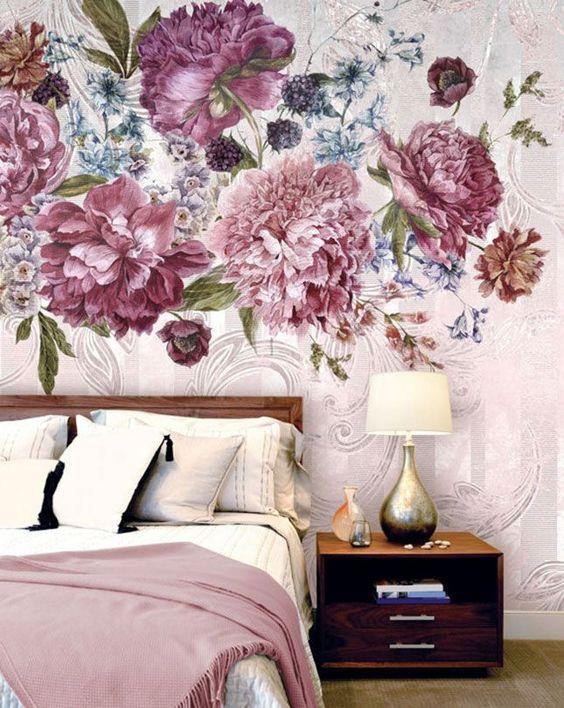 Dark Floral Wallpaper Ideas
