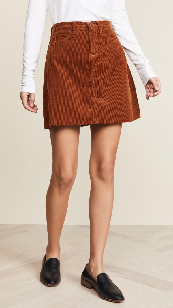 Blank-Denim-Corduroy-Mini-Skirt