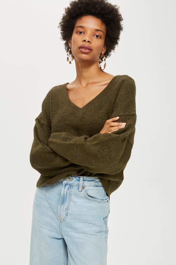 Topshop Super Soft V-Neck Jumper