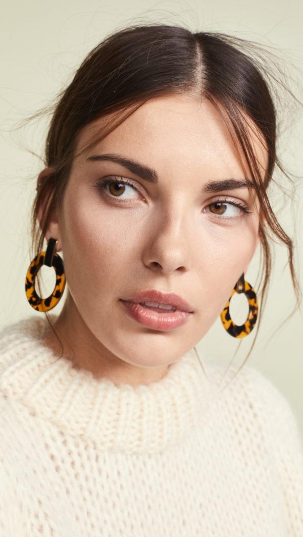 Bauble Bar Torrie Resin Hoop Earrings