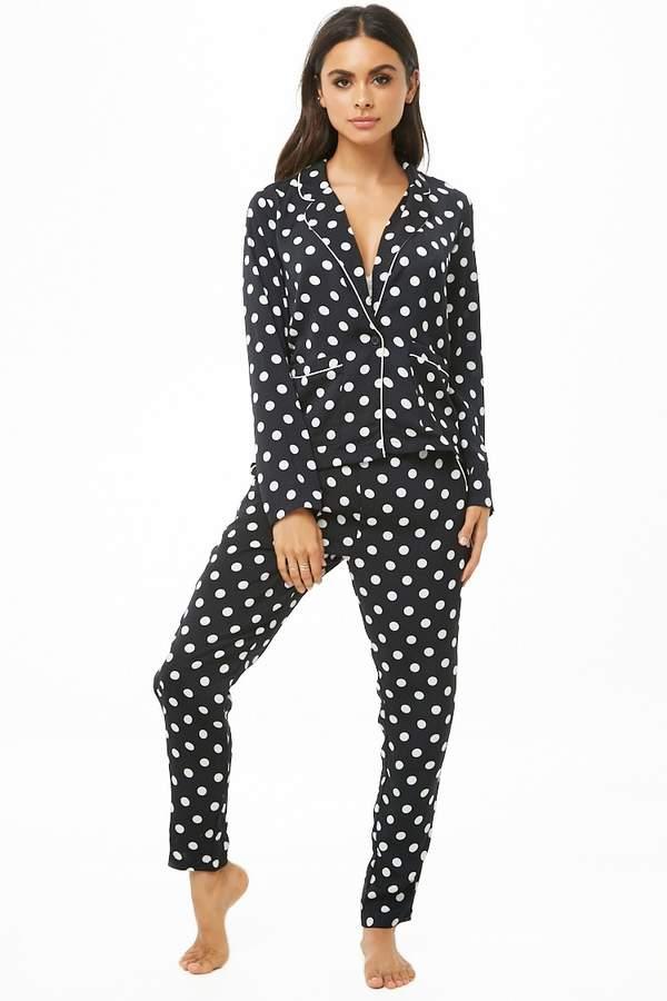 Forever 21 Polka Dot Pajama Set