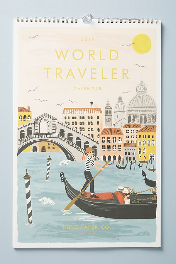 Rifle Paper Co. World Travel 2019 Calendar