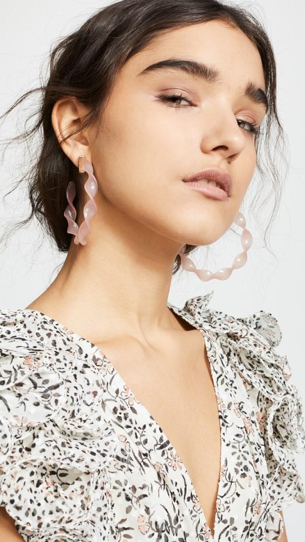 Bauble Bar Delphia Twisted Hoop Earrings