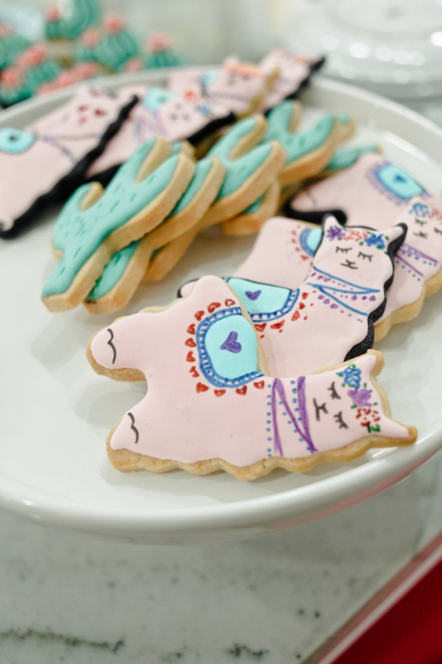 Galentines Day llama cookies