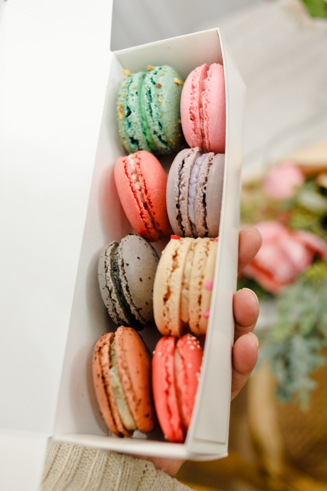 Galentines Day macarons