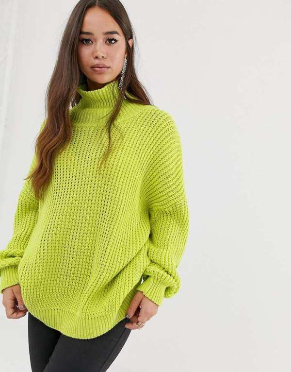 PrettyLittleThing Oversized Chunky Knit Sweater