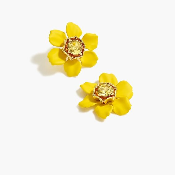 Crystal Floral Stud Earrings