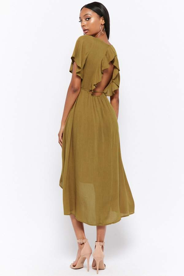 Forever 21 Flutter-Sleeve High-Low Dress