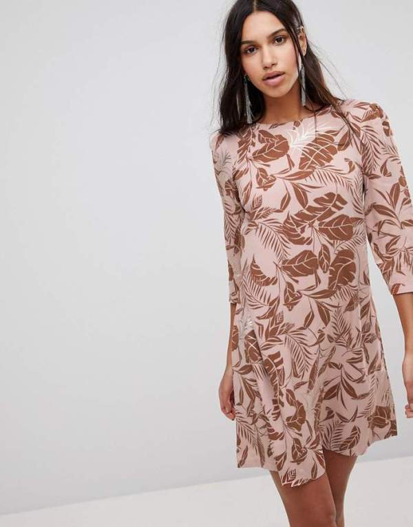 Y.A.S Floral Print Shift Dress