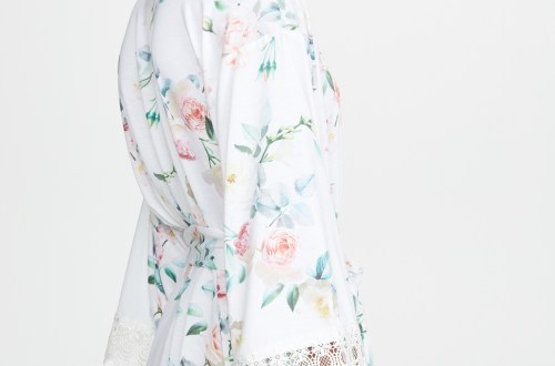 Flora Nikrooz Pia Printed Knit Robe