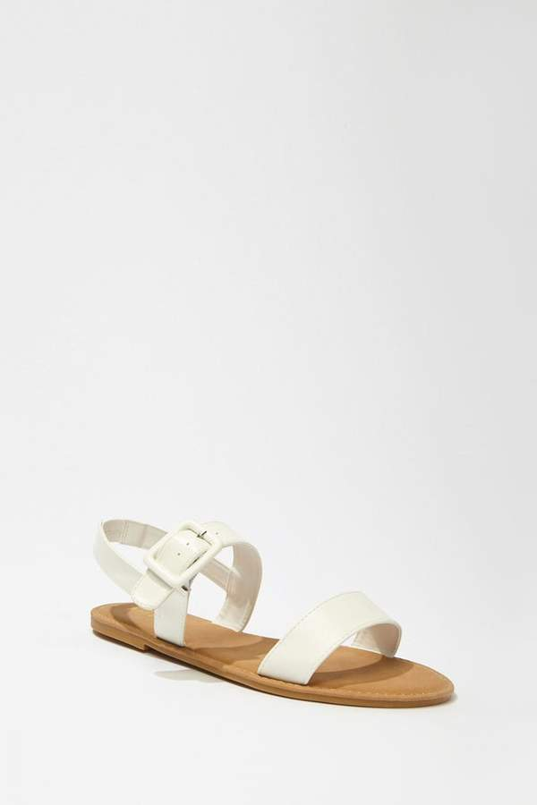 Forever 21 Faux Leather Buckle Sandals