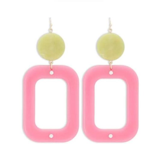 Forever 21 Marble & Opaque Geo Drop Earrings