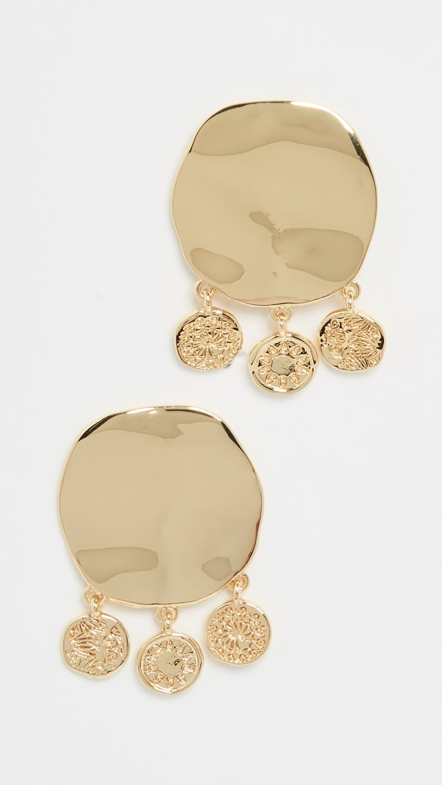 Gorjana Cruz Coin Drop Studs
