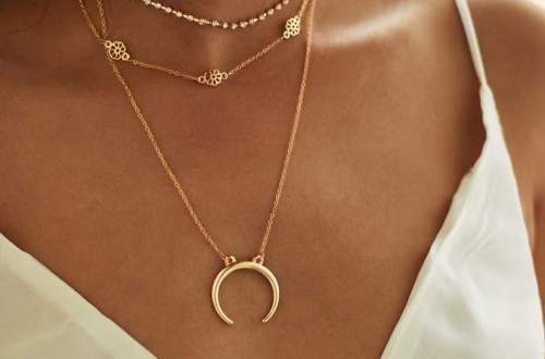 Shein Moon Pendant Choker Necklace Set