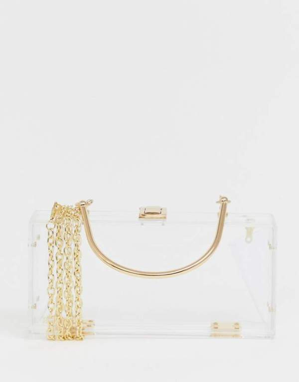 ASOS DESIGN Clear Plastic Clutch