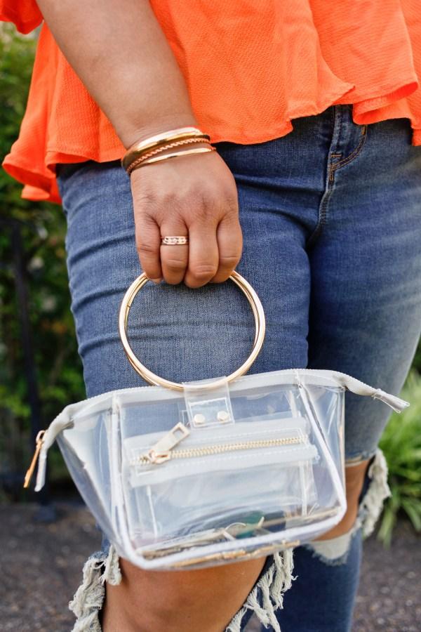 Circle Handle Mini Bag