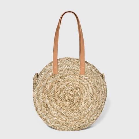 Universal Thread Circle Straw Tote Handbag