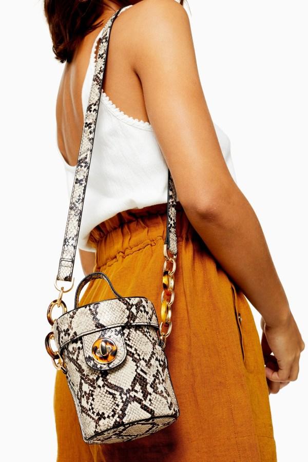 SHONA Snake Barrel Cross Body Bag