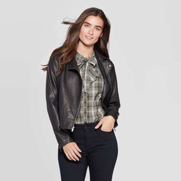 Universal Thread Faux Leather Moto Jacket